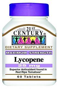 21st Century Health Care – 60 Comprimés de Lycopène – Antioxydant à base de Tomates Mûres Enrichies – 25 mg