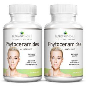 Anti-âge Phytocéramides de riz 100mg. Enrichi aux vitamines antioxidantes A, C, D et E pour le rajeunissement et l'hydratation des cellules de la peau (sans blé ni gluten!) 2 mois d'approvisionnement. * Plus efficaces que les Phytocéramides de blé de 350mg!