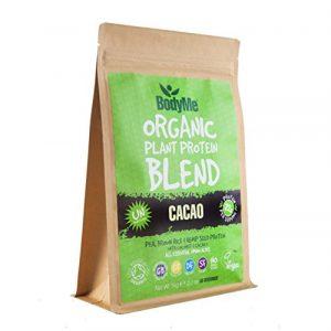 BodyMe Biologique Mélange Poudre de Protéines Végétalien   Cru Cacao   1Kg   NON SUCRE Avec 3 Protéines de Plantes