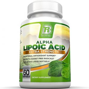 BRI Nutrition Alpha Lipoic Acid Softgels – 60 Count 300mg Fast Absorption Liquid Softgels