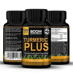 Curcuma Plus 600 mg Force Plus | Curcumine Puissante | 120 Gélules de Curcuma avec Poivre Noir | Cure de 4 mois | Perte de poids, Anti-Inflammatoire et Antioxydant Naturel | Curcuma Bio Gelule