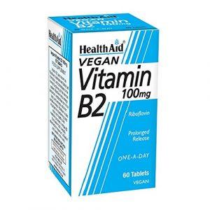 HealthAid Vitamin B2 (Riboflavin) 100mg – Prolong Release – 60 Tablets
