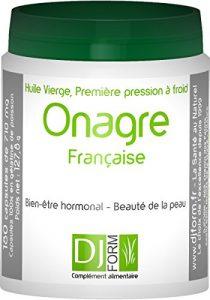 Huile d'Onagre française 100% pure et naturelle – Première pression à froid – Cultivée et pressée en France – 180 capsules