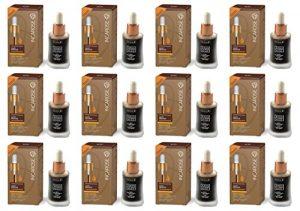 IncaRose–Sun Drops Maxi Bronze Fluide autoabbronzante visage 12boîtes de 30ml avec acide hyaluronique