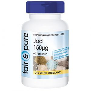 Iode 150µg d'iodure de potassium – 60 comprimés – substance pure – sans additifs