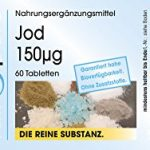 Iode 150µg d'iodure de potassium – 60 comprimés – substance pure – sans additifs