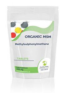 MSM Methylsulphonylmethane 1000mg 30/60/90/120/180/250tablettes pour tous les systèmes de corps en toutes Circonstances normales d'orgue fonctions saine humeur britannique