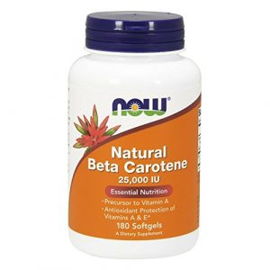 Now Foods, Bêta-Carotène Normal ( Natural Beta Carotene ) 25,000IU x180caps – Natural Vitamin A