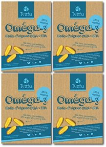Testa Omega-3 450mg DHA+EPA – Huile d'algues – Omega-3 vegan – 240 capsules – 8 mois d'utilisation