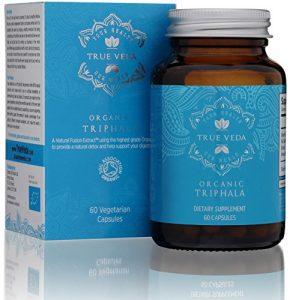 Triphala Bio – Certifié Bio UE | Complément alimentaire à base de plantes 100% naturel | Favorise une digestion saine | Antioxydant naturel | Ayurveda | 60 capsules végétariennes faciles à avaler