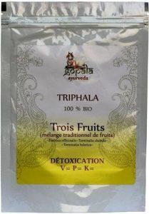 TRIPHALA (Emblica officinalis, Terminalia chebula, Terminalia belerica) BIO en poudre (250 g) – Mélange de Plantes Ayurvédiques Traditionnelles pour detoxiner