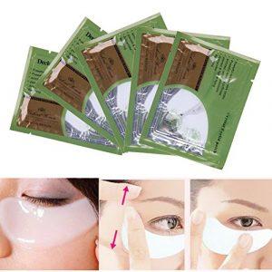 5pcs Masque pour les yeux, zone de Eye Care Pad Cristal Collagène œil Masque visage paupière l'humidité Pad œil de réduire les rides et sacs cernes