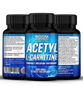 Acetyl L-Carnitine 500mg | Comprimés Puissant de Acetyl-Carnitine | Nootropiques Puissant | 120 Comprimés Énergisant | 4 Mois ENTIER de Réserves | Améliore les Performances Athletiques | Augment les Fonctions Cognitives | Sûrs et Efficaces | Meilleures Ventes de Pilules L-Carnitine