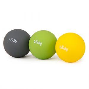 Balles d'automassage pour les fascias, Set de 3 balles (moelleux-moyen-ferme) Ø env. 6,5 cm