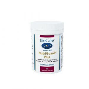 Biocare MicroCell Nutriguard Plus (vits A C E & selenium & carotene & Zinc), 90 vegi bouchonsules