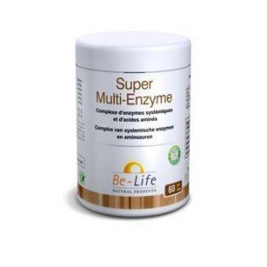 Bio-life – Super multi-enzyme – 60 gélules – Contribue aux fonctions d'élimination, soutient la cir