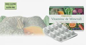 ERBAMEA – Vitamines & minéraux 24 CPR vitamines, minéraux et antioxydants: les plus énergie pour le bien-être