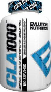 Evlution Nutrition – CLA 1000 Acide Linoleique Conjugué | Supplement Pour La Réduction Du Poids, Sans Stimulants | 180 Gélules Souples