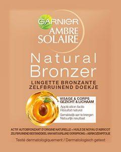 Garnier Ambre Solaire Autobronzant Lingettes Visage Naturel Bronzeur