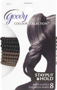 Goody Élastiques à tenue sûre Stay Put – Noir métallisé – #76772 – 8/paquet (3 paquets)
