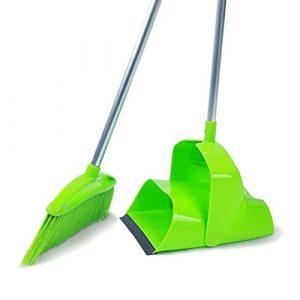 HU HAO UK Pelle à Poussière et Pinceau – Lobby Combined Angle Sweeper et Dustpan Repliable Bureau et Utilisation de Balayage à Domicile (Grand, Vert)