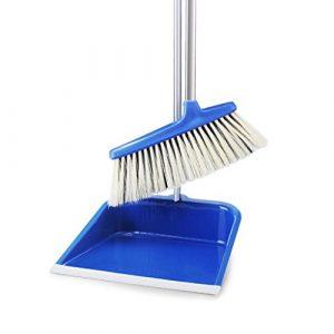HU HAO UK Pelle à Poussière et Pinceau – Se Tenir avec Le Balai du Vestibule et la Pelle à Poussière (Couleur : Blue)