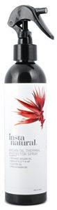 InstaNatural Spray Cheveux Thermo-Protecteur – Protège du Fer Chaud Avec Huile d'Argan Bio, de Ricin et de Tournesol & Vitamine B5 – Prévient le dessèchement, les pointes abimées & fourchues – 240 ml