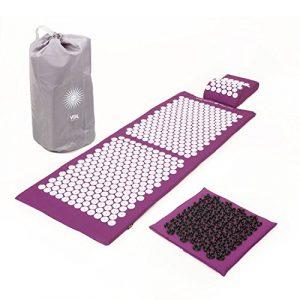Kit d'acupression VITAL XL DELUXE SOFT – tapis XL + coussin + tapis pour les pieds SOFT + sac de transport