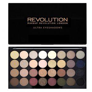 Maquillage Revolution Ultra – Palette 32 ombres à paupières – Brillants et Mats Nudes – Flawless