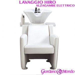 Rincer salon coiffeur et barbier Hiro alzagambe Blanc ou Noir Ceriotti ameublement