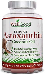 Astaxanthine naturelle 30mg d'huile de noix de coco – Vegan 90 Capsules – plus haute résistance – Natures plus puissant antioxydant ! -Repas végétariens amical – de WellGood – ** spécial lancement de prix un jour seulement !