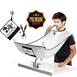 BELINIA PRESTIGE – tablier de barbe avec pochette intégrée + 2 rasoirs Hygiénique OFFERT