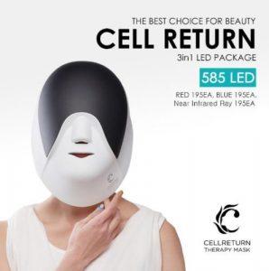 Cellreturn Led appareil standard masque luminothérapie maison de luxe sans fil soins de la peau noir blanc +