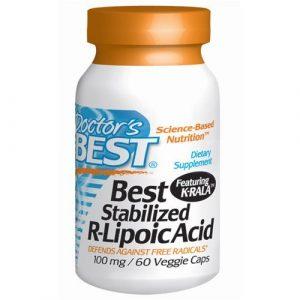 Doctor's Best – Best Stabilized R-Lipoic Acid 100 mg. – 60 Vegetarian Capsules