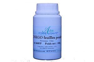 Ginkgo biloba en poudre en pot PEHD inviolable de 100 grammes