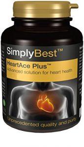 HeartAce Plus, 120 Comprimés – Favorise la Santé du Coeur, Avec Levure de Riz Rouge, du Co Enzyme, de l'Extrait de Thé Vert et de l'Ail, Fabriqué au Royaume-Uni
