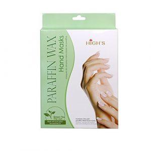HIGH'S Home Spa Manucure ¨¤ la chaleur rapide Paraffine Masque pour les mains Gants hydratants, Th¨¦ vert