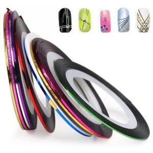 Hilaï Nail Art Striping Tape Line Décoration Lot de 10rouleaux à partir de nail art