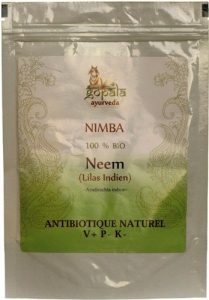 NIMBA -Neem- (Azadirachta indica) BIO en poudre (250 g) – Plante Ayurvédique Traditionnelle antibiotique naturel