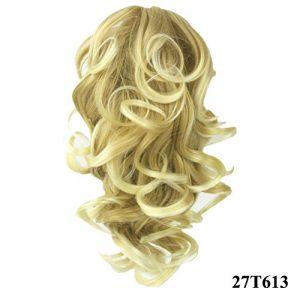 PrettyWit 12 pouces Ponytail Big Wave Clip dans Pony Tail Extensions de cheveux Perruque Perruque Jaw Griffe (Blond fraise Bleach Blond 27T613)