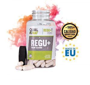 Qualnat Detox 100% naturel à base d'aloe vera – Complément alimentaire pour lutter contre la constipation – Détoxifie et nettoie le corps en aidant à perdre du poids – 120 gélules
