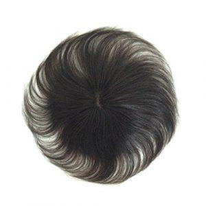 Remeehi 8,9x 8,9cm fait à la main gratuit supplémentaire Cheveux humains Clip pièces en Gelée postiches pour femme