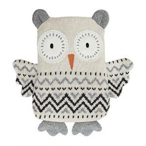Aroma Home Bouillotte Chouette en tricot Lavande Passe au micro-ondes