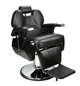 Barberpub Coiffure Coiffeur Chaise à selles Coiffure Création hydrau lisch Chaise 2687BK