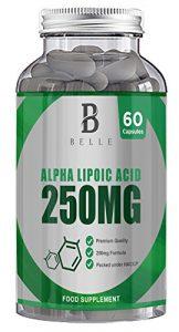 Belle Alpha Lipoic Acid 250mg – Supplément ALA – Soutient la vision et la fonction nerveuse – 60 Capsules antioxydantes