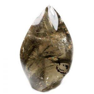 Derrière à quartz poli point ~ 13x 4.5cm