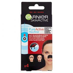 Garnier Pure Active Set de 4 Skinactive Charbon Patchs Anti-Points Noirs
