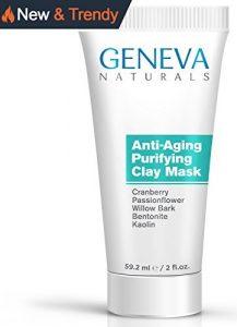 Geneva Naturals Naturel anti vieillissement de formule aux canneberges, passiflore, écorce de saule, bentonite et kaolin pour hommes & femmes – 2 oz