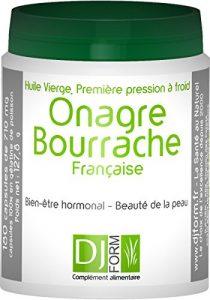 Huile d'Onagre et de Bourrache Française 100% pure et naturelle – Première pression à froid – Cultivée et pressée en France – 180 capsules