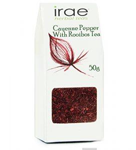 Le piment de Cayenne Capsicum annuum Tisane Rooibos sans caféine avec 50g de base